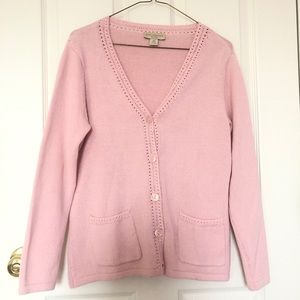Appleseed's Petites PS Blush Pink Cardigan